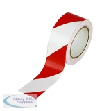 Vinyl Tape Hazard White/Red 50mm x 33m (6 Pack) PVC-50-22-HAZWR