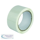 White Polypropylene Tape 50mm x 66m (6 Pack) APPW-500066-LN