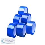 Blue Polypropylene Tape 50mm x 66m (6 Pack) APPBL480066-LN