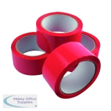 Red Polypropylene Tape 50mm x 66m (6 Pack) APPR-500066-LN