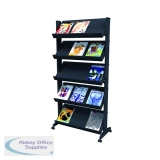Fast Paper Black Mobile Easy Literature Display Wide Corner F255N001