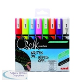 Uni Chalk Markers Medium Assorted (8 Pack) 153494341