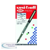 Uni-Ball Eye Micro UB-150 0.2mm Line Black Rollerball Pen (12 Pack) 9000500