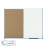 Nobo Classic Combination Cork Drywipe Board 1200x900mm 1901588