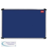 Nobo EuroPlus Blue Felt Noticeboard with Fixings and Aluminium Frame, 2400 x 1200 mm