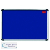Nobo EuroPlus Blue Felt Noticeboard with Fixings and Aluminium Frame, 1500 x 1000 mm