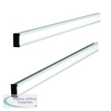 Nobo T-Card Metal Link Bars Size 24 772 x 13mm (2 Pack) 32938888