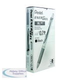 Pentel EnerGel Xm Retractable Liquid Gel Black Pen (12 Pack) BL77-A