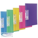 Pentel Recycology Vivid A4 30 Pocket Assorted Display Book (5 Pack) DCF343/MIX
