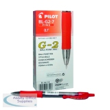 Pilot G207 Gel Ink Retractable Rollerball Pen Medium Red (12 Pack) G2 Red