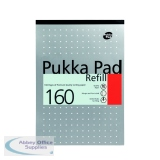 Pukka A4 Ruled 4 Hole Punched Refill Pad (6 Pack) 80/1