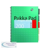 Pukka Pad Metallic Cover Wirebound Project Book B5 (3 Pack) 8518-MET