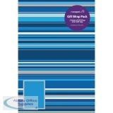 Regent Gift Wrap Blue Stripes F407/E/VW