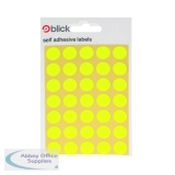 Blick Flourescent Labels in Bags Round 13mm Dia 140 Per Bag Yellow (2800 Pack) RS004752