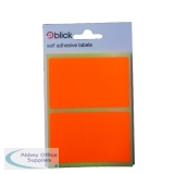 Blick Fluorescent Labels in Bags 50x80mm 8 Per Bag Orange (160 Pack) RS010852