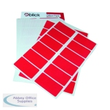 Blick Labels in Office Packs 25mmx50mm Red (320 Pack) RS019954