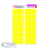 Blick Labels in Office Packs 25mmx50mm Yellow (320 Pack) RS020158