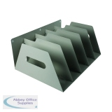 Rotadex 5-Section Lever Arch Filing Rack Smoke White LAR5