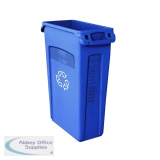 Rubbermaid Slim Jim Venting Channel Container 87 Litre Blue 3540-07-BLU