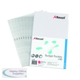 Rexel A4 Clear Budget Pocket (100 Pack) 11000