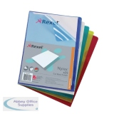 Rexel Assorted Nyrex Cut Back Folders A4 (25 Pack) 12131AS