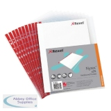 Rexel Nyrex Side Opening Pockets Foolscap (25 Pack) 12263