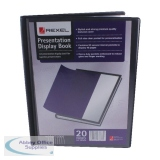 Rexel Presentation Display Book A4 Black 20 Pocket 12710BK