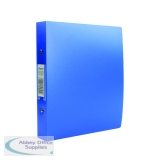 Rexel Budget 2 Ring Binder 25mm Polypropylene A5 Blue (10 Pack) 13428BU