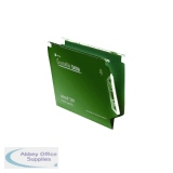 Rexel Crystalfile Extra Lateral File 15mm Green (25 Pack) 3000121