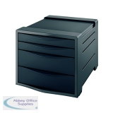 Rexel Choices Drawer Cabinet Black 2115610