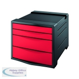 Rexel Choices Drawer Cabinet  Red 2115611