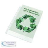 Rexel Pocket Recycled PP 70 micron A4 White (100 Pack) 2115702