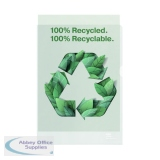 Rexel Folder Recycled PP 100 micron A4 White (100 Pack) 2115704
