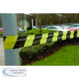 VFM Striped Tape Barrier 500m Black/Yellow 304927