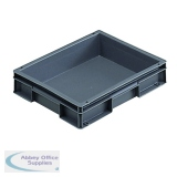 Plastic Stacking Container Grey 307455