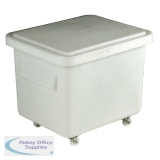 VFM White Mini Mobile Storage Truck With Lid 308586