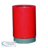Red Outdoor Open Top Bin 75 Litre 321778