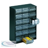 Storage Cabinet Clear Drawer System Dark Grey 324117