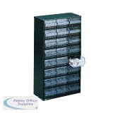 Storage Cabinet Clear Drawer System Dark Grey 324124