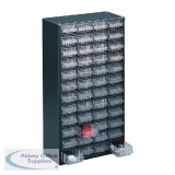 Clear 48 Drawer System Dark Grey Storage Cabinet 324196