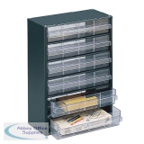 Storage Cabinet Clear Drawer System Dark Grey 324223
