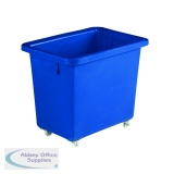 VFM Blue Swivel Castor Bottle Skip 405x610x560mm 328217