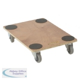 VFM Brown Economy 910x610x135mm Wooden Dolly 329332