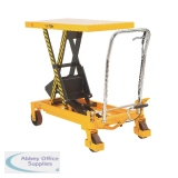 Mobile Lifting Table 500kg Capacity Yellow and Black 329458