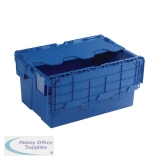 Blue Attached Lid Container 54L 375815