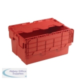 Red Attached Lid Container 54L 375816