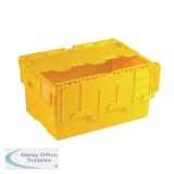 Yellow Attached Lid Container 54L 375817