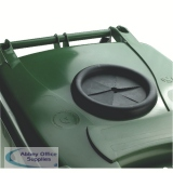 VFM Green Wheeled Bin With Bottle Opening 120 Litres 377874