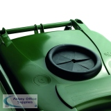 VFM Green Wheeled Bin With Bottle Opening 140 Litres 377875