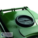 VFM Green Wheeled Bin With Bottle Opening 240 Litres 377876